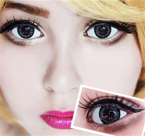 Softlens Colourvue Big Dolly Black kolorowe soczewki kontaktowe colourvue big evening grey optyk rozmus