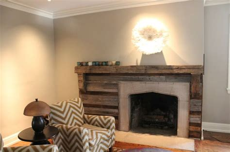 reclaimed wood fireplace mantel home