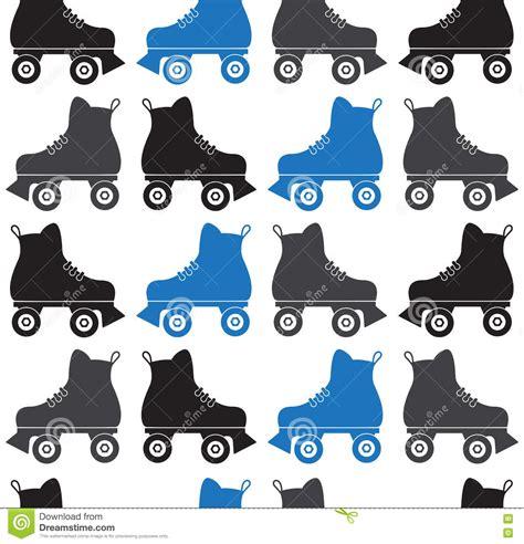 pattern for roller skate seamless pattern of roller skates on a white background