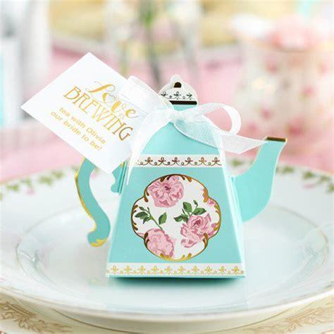 wedding favor tea bags 2 teapot favor box