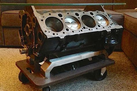 Engine Block Coffee Table Austrian F Fan Builds Chevy 305 Coffee Table Enginelabs