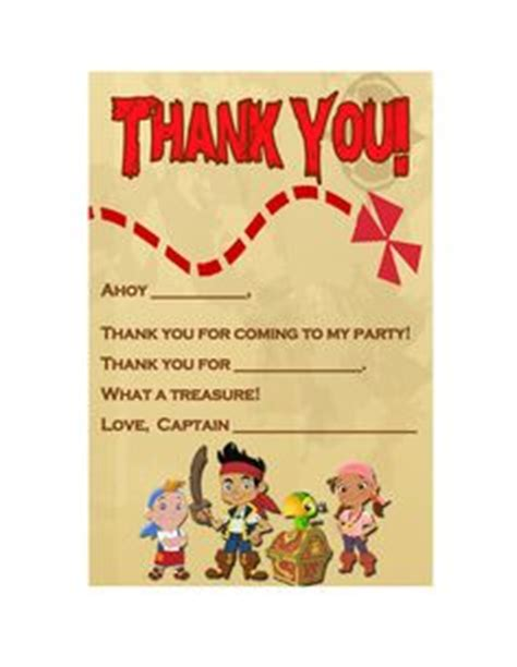 jake and the neverland thank you card template blank pages and etykiety on michael miller