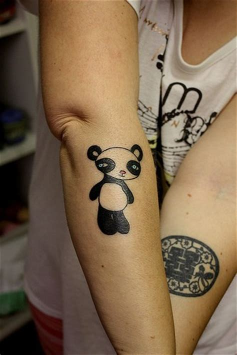 panda ankle tattoo sweet panda tattoo on the ankle real photo pictures