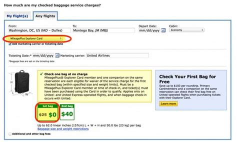 united check bag cost the easy way to find out how much checked bags will cost