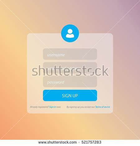 free computer card login template registration form stock images royalty free images