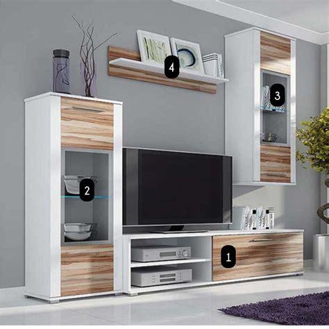 meuble tv design bois mural