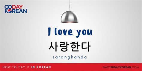 how to a to say i you how to say i you in korean