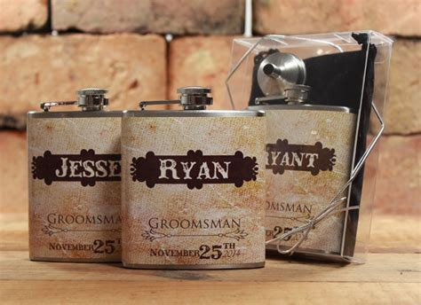 country wedding 8 groomsmen gift flask sets personalized 5 rustic weddings groomsmen gifts for outdoor weddings
