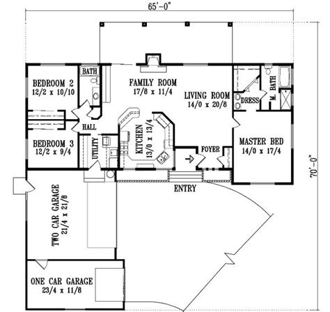 2 story ranch house plans ranch style house plans 1724 square foot home 1 story