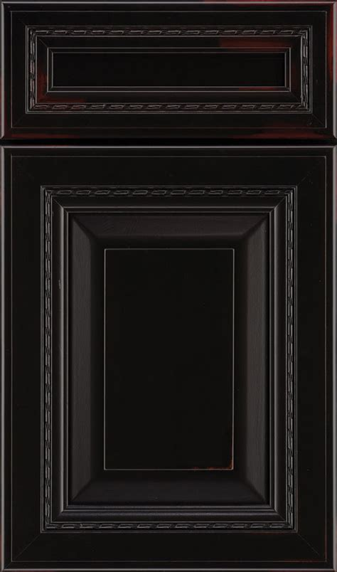 Jet Ember Black Cabinet Finish On Maple Decora Black Cabinet With Doors