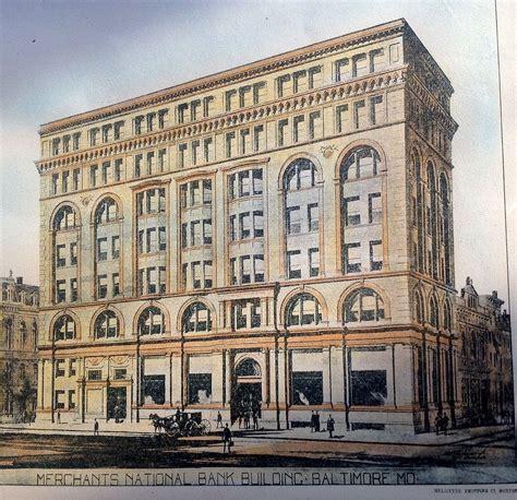 and merchant bank merchants national bank building 1895 baltimore