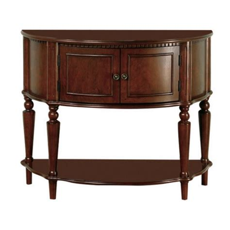 entry table with storage coaster storage entryway console hall table in brown 950059
