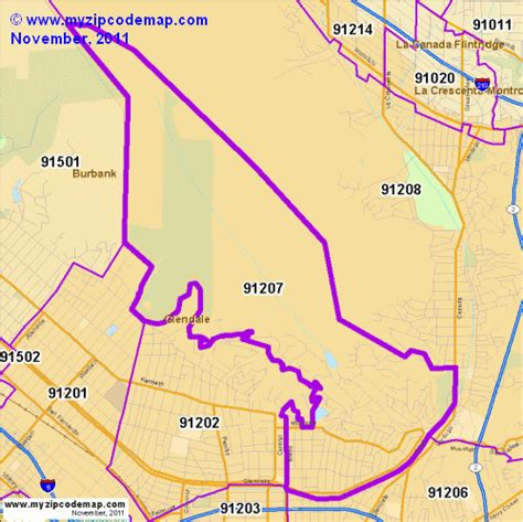 zip code map glendale ca zip code map of 91207 demographic profile residential