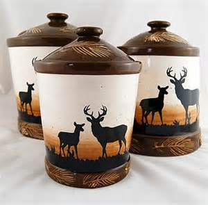 Rustic Kitchen Canister Sets by Rustic Deer Canister Set