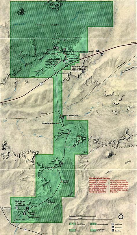 arizona national forest map petrified forest map painted desert arizona usa mappery