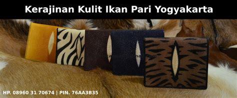 Jual Gelang Kulit Pria Yogyakarta kerajinan kulit ikan pari yogyakarta dompet kulit ikan