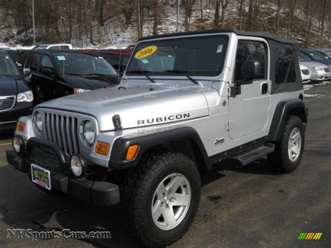 Jeep Tj 4x4 2006 Jeep Wrangler Rubicon 4x4 In Bright Silver Metallic