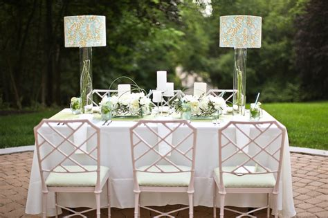 light blue and sage green wedding tabletop the sweetest