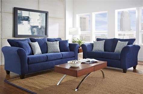 Living Room With Blue Sofa Comfortable Blue Sofa For Blue Living Room Furniture Home Inspiring