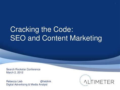 Cracking The Code 2 by Cracking The Code Seo Content Marketing