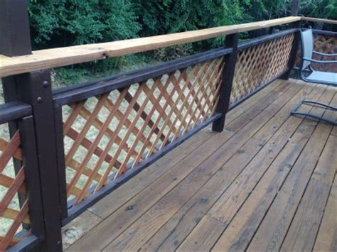 tone lattice railings colorado deck master