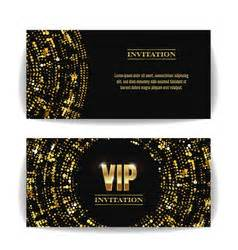 free vip ticket template on business card stock vip ticket template empty golden tickets vector image