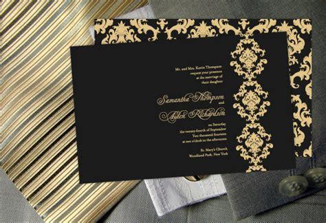 color monday damask elegance wedding invitationcolor