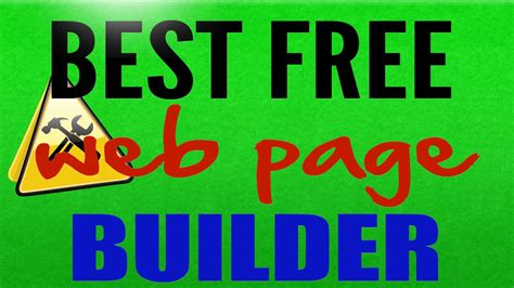 best free web page builder best free web page builder free website builder and