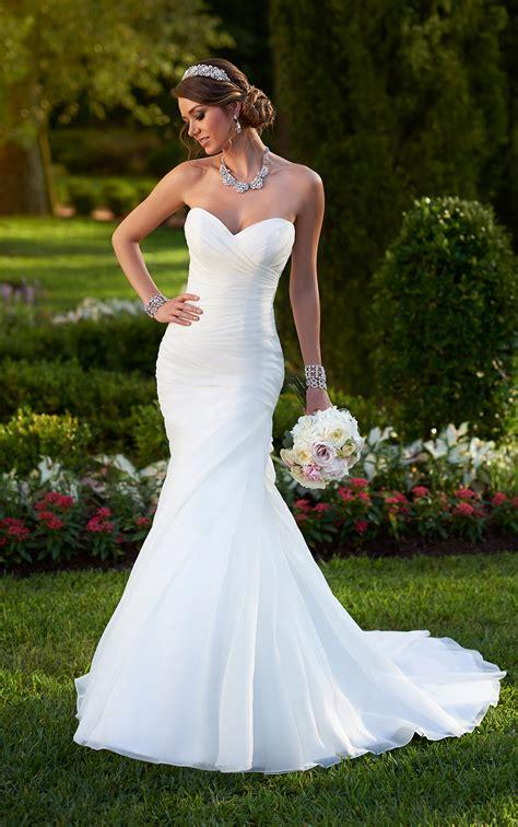 Gown Sweetheart Wedding Dress by Organza Fit Flare Corset Wedding Dress Stella York