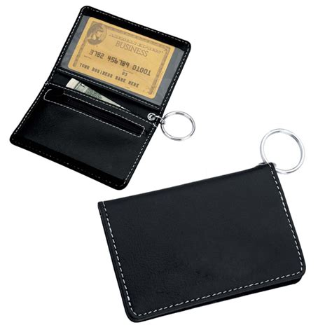 keychain card template id card holder key chain velcro black
