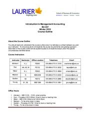 Pp201 Wlu Course Outline by Course Outline Wilfrid Laurier Waterloo Ontario Business Economics 275 Business