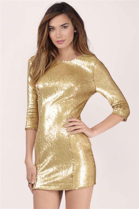 In Gold Dress gold dress sequin dress metallic gold dress