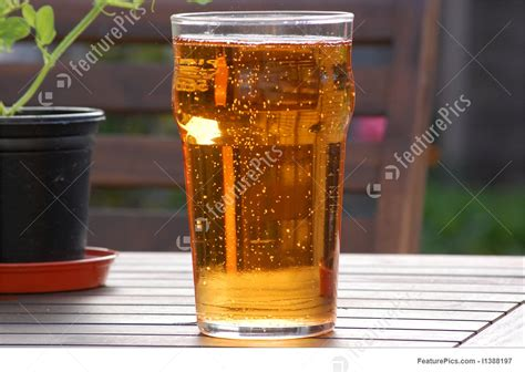 alcoholic beverages cider pint stock picture
