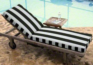 black and white striped chaise lounge cushions custom chaise cushion deluxe