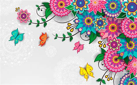 floral pattern background free vector flowers pattern vector art background wallpaper download