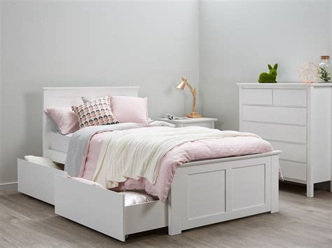 Single Bed Frame White Fantastic Bedroom Suites King Single Storage White B2c Furniture
