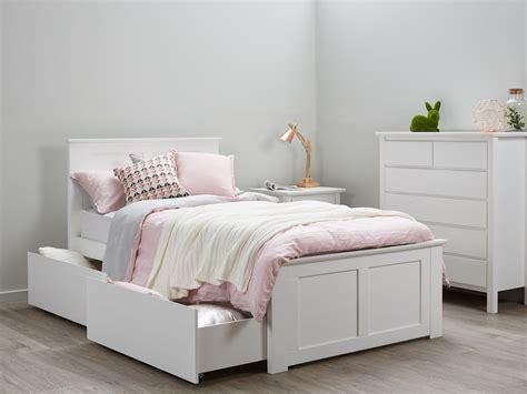 King Single Bed   Storage   Kids Beds   White   B2C Furniture