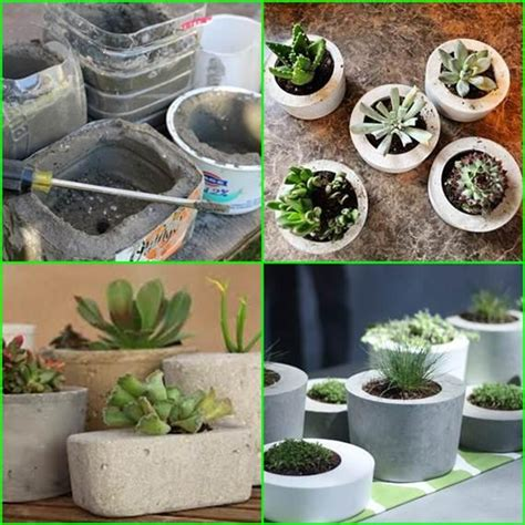 Make Your Own Planter by Make Your Own Concrete Planter Trusper