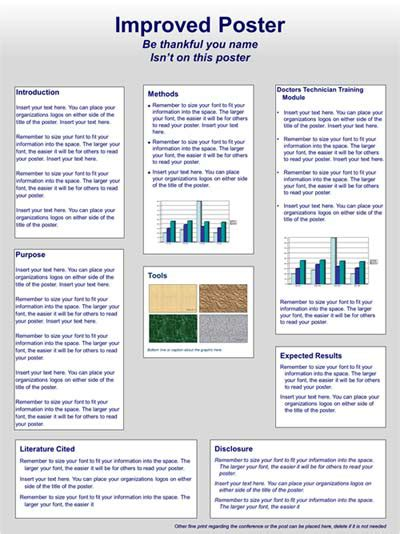 poster with layout scientific poster design and layout fonts colors
