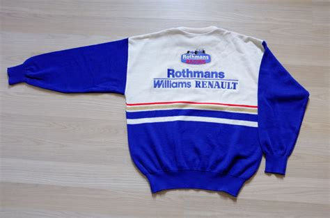 oceanseven f1 racing 58 t shirt vintage 90 s williams rothmans f1 racing team sweater