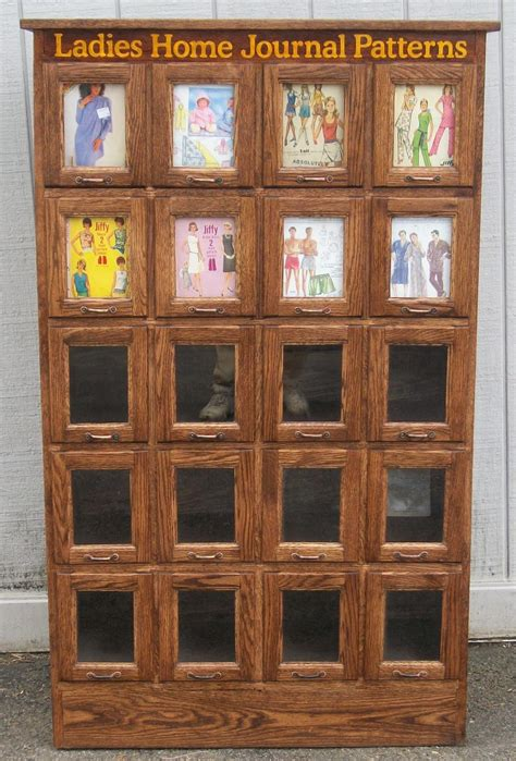 vintage pattern cabinet country store display cases brass lantern antiques