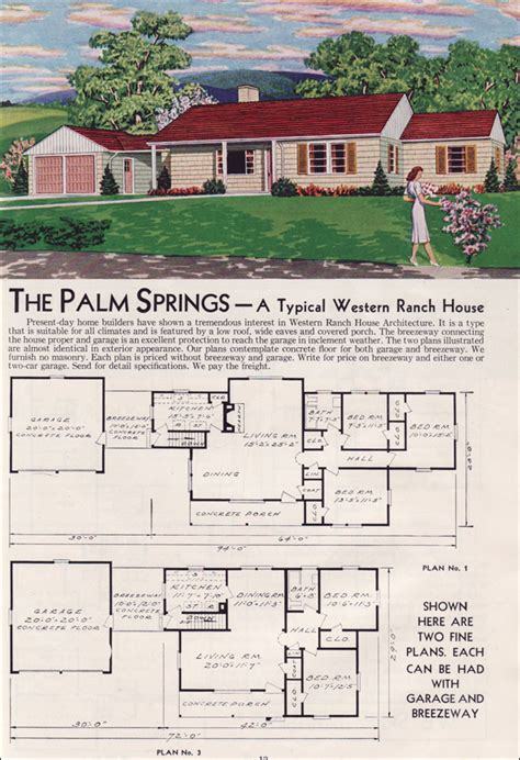 Small Craftsman Style House Plans 1951 palm springs aladdin readi cut homes mid century