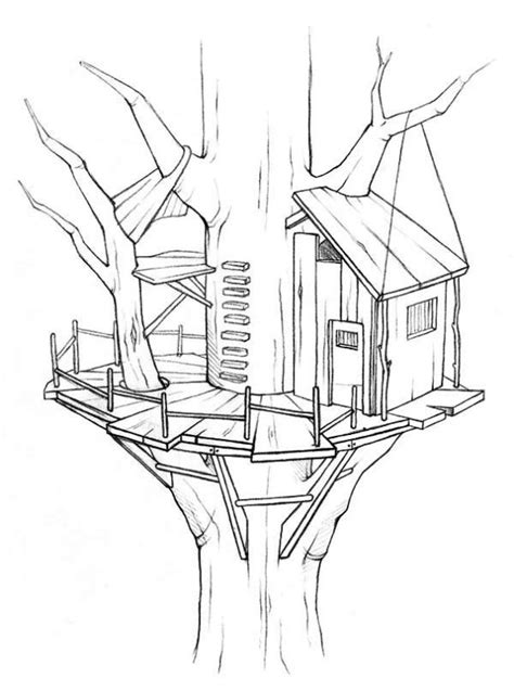 coloring page of a tree house kids n fun co uk 11 coloring pages of treehouse