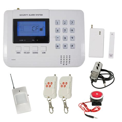 gsm pstn lcd display voice wireless home alarm security