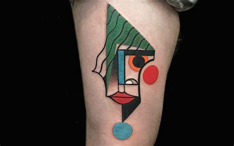 picasso tattoo artist colorful cubist tattoos that would make picasso proud so