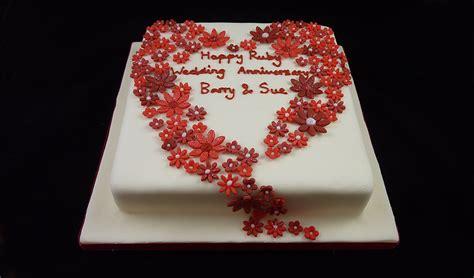 Ruby Wedding Cakes by Ruby Anniversary Cake Ideas On Ruby Wedding