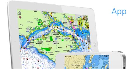 free boat gps app aqua map ios marine navigation gps boating charts