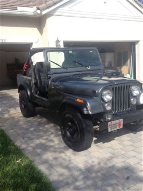 84 Jeep Cj7 Buy Used 84 Jeep Cj7 53k Original No Fiberglass