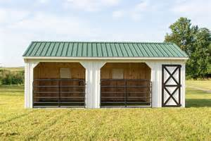 Small Barns And Sheds 12x24 Horse Barn Run In Shed With Gates And Tack Room
