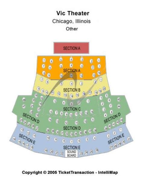 theater chicago seating capacity vic theatre tickets and vic theatre seating chart buy